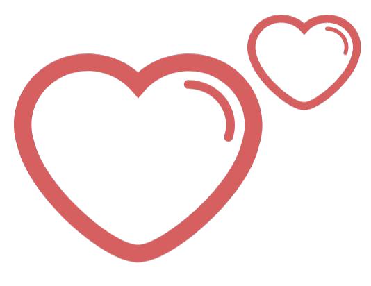 hjärtan frilagd